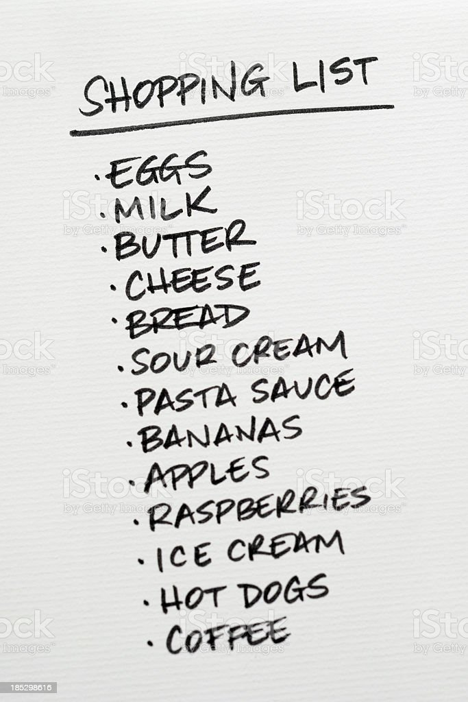 Shopping List Pictures Images And Stock Photos  Istock