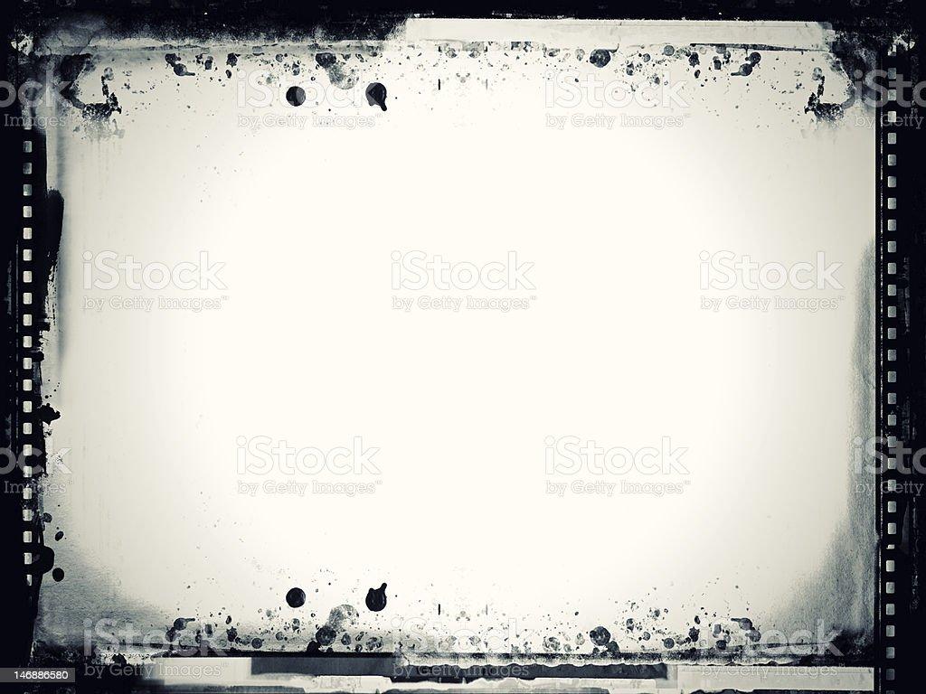 Black and white grunge film frame stock photo
