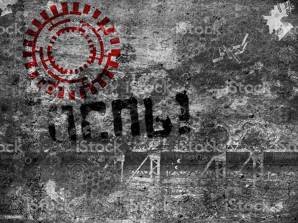 black and white grunge texture with red accent royalty-free stock photo