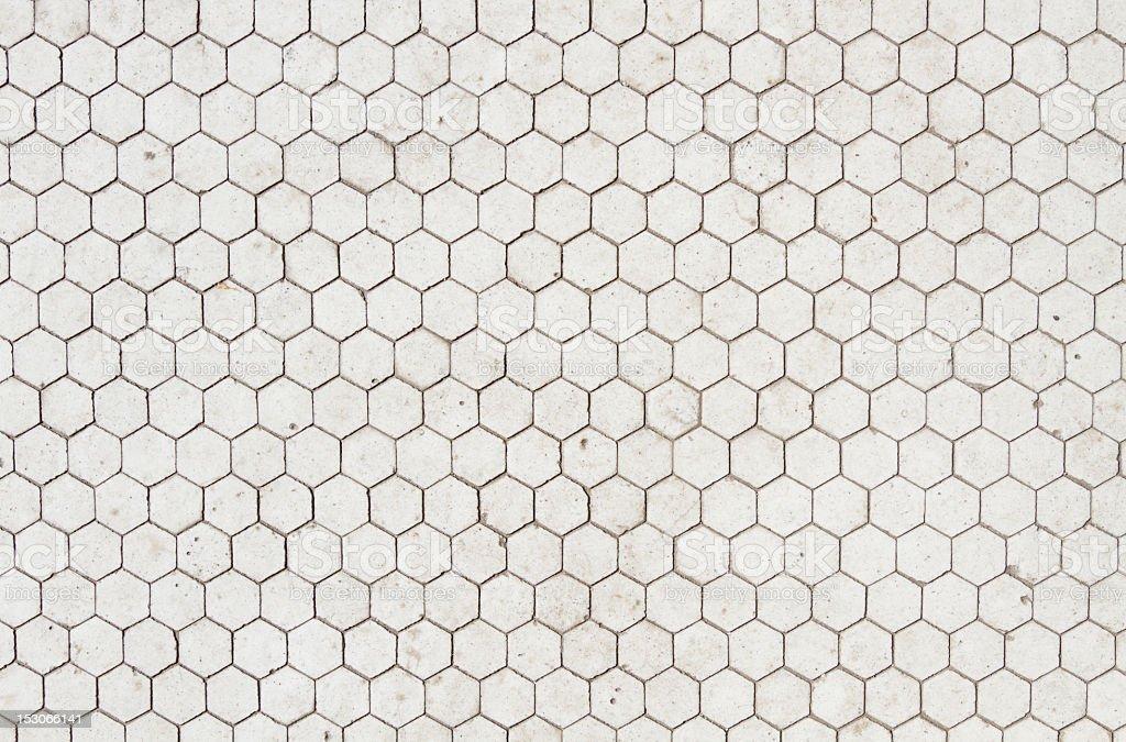 A black and white hexagon texture stock photo