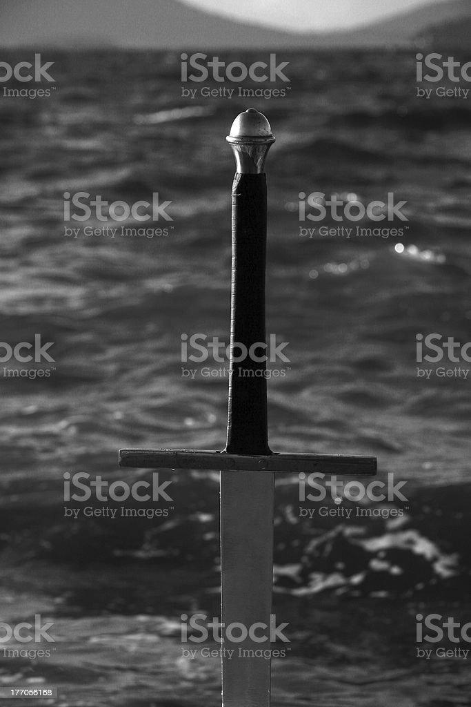 Black and White Hilt royalty-free stock photo