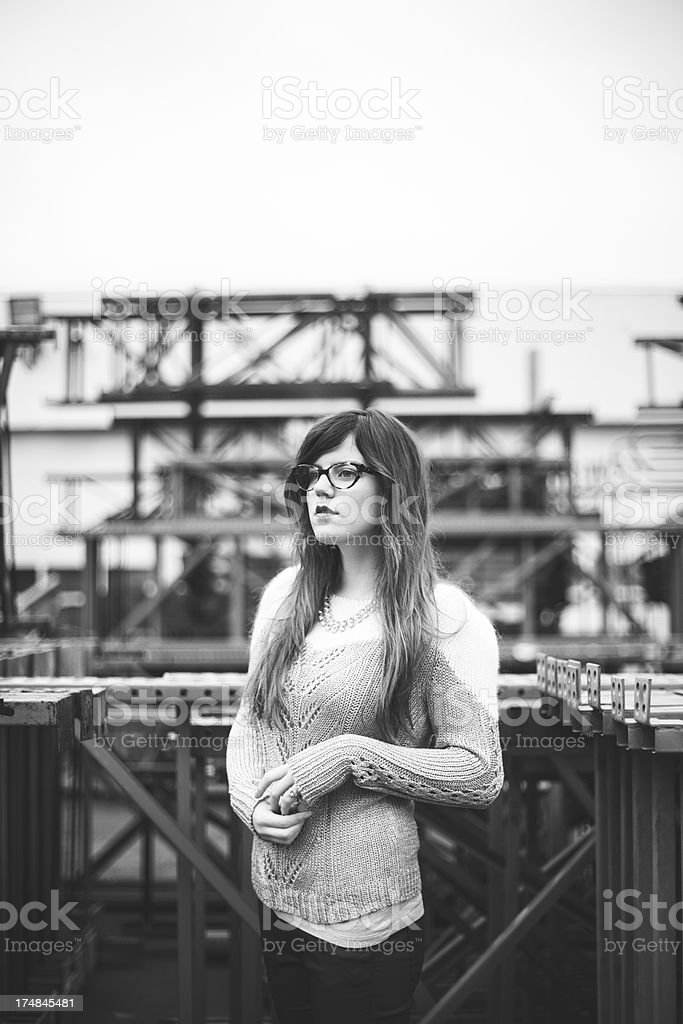 Black and White Industrial Beauty royalty-free stock photo