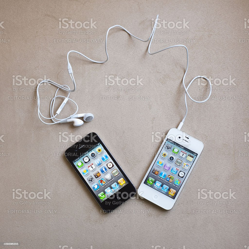 Black And White iPhone4 royalty-free stock photo