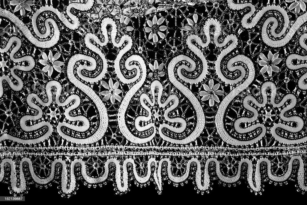 black and white lace royalty-free stock photo