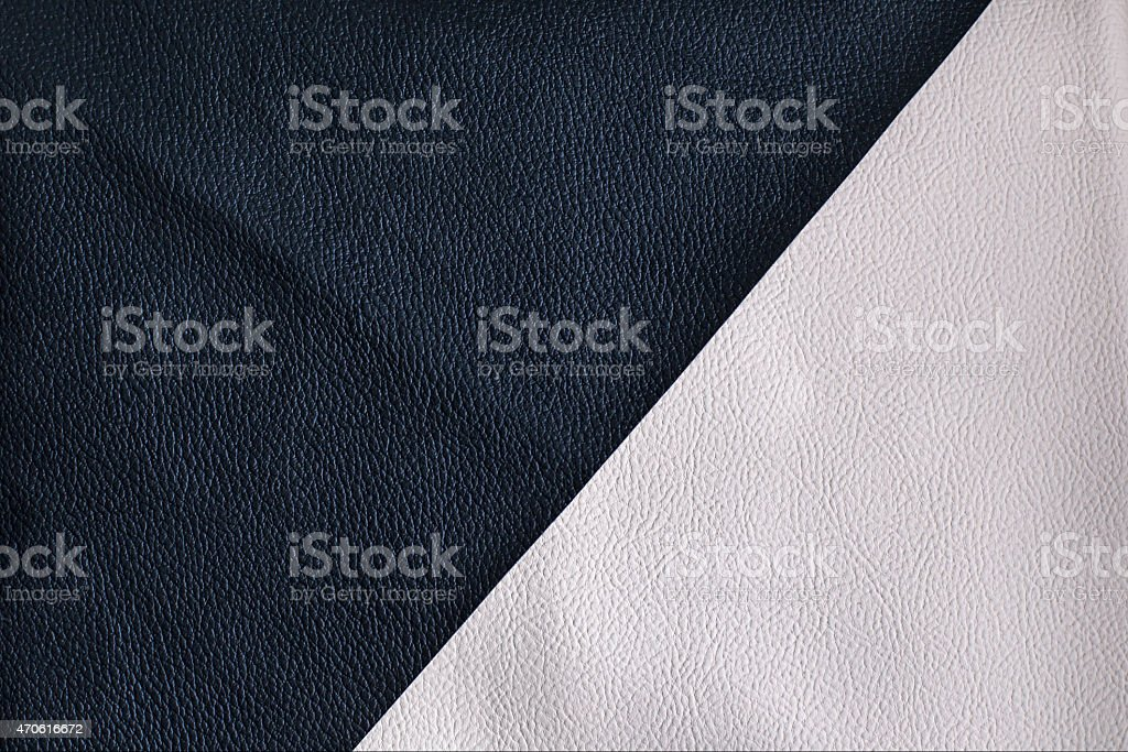 Black and white leather texture stock photo