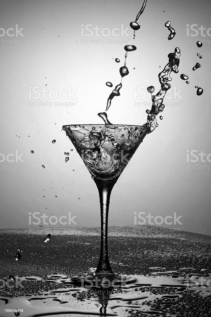 Black and white martini royalty-free stock photo