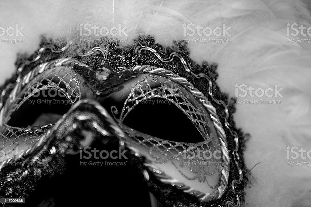Black and White Mask royalty-free stock photo