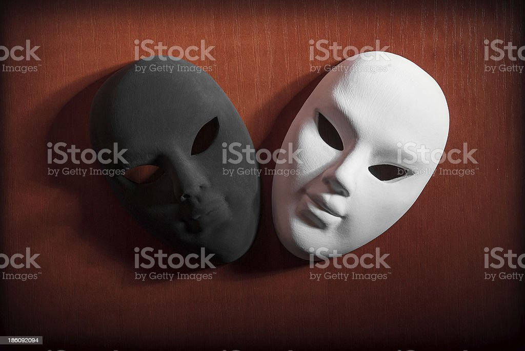 Black and White masks royalty-free stock photo