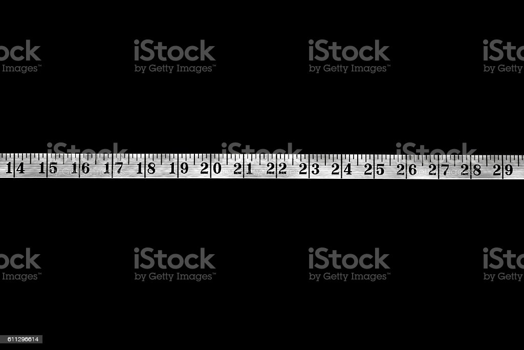 Black and White Measuring Tape stock photo
