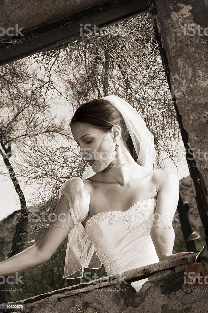 Black and White Modern Bride stock photo