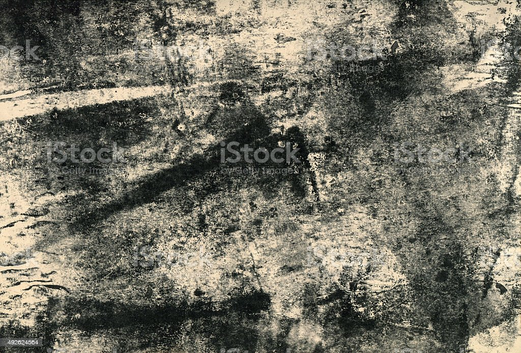 Black and white monoprint stock photo