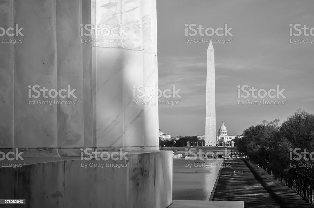 Black and White Monument stock photo