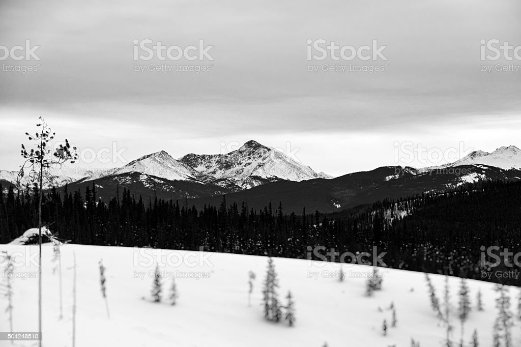 Black and White Mount Holy Cross stock photo