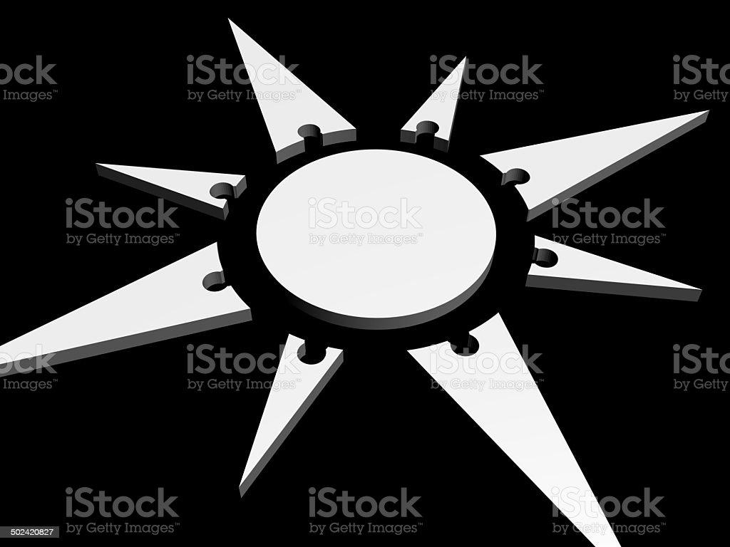 black and white navigation stock photo
