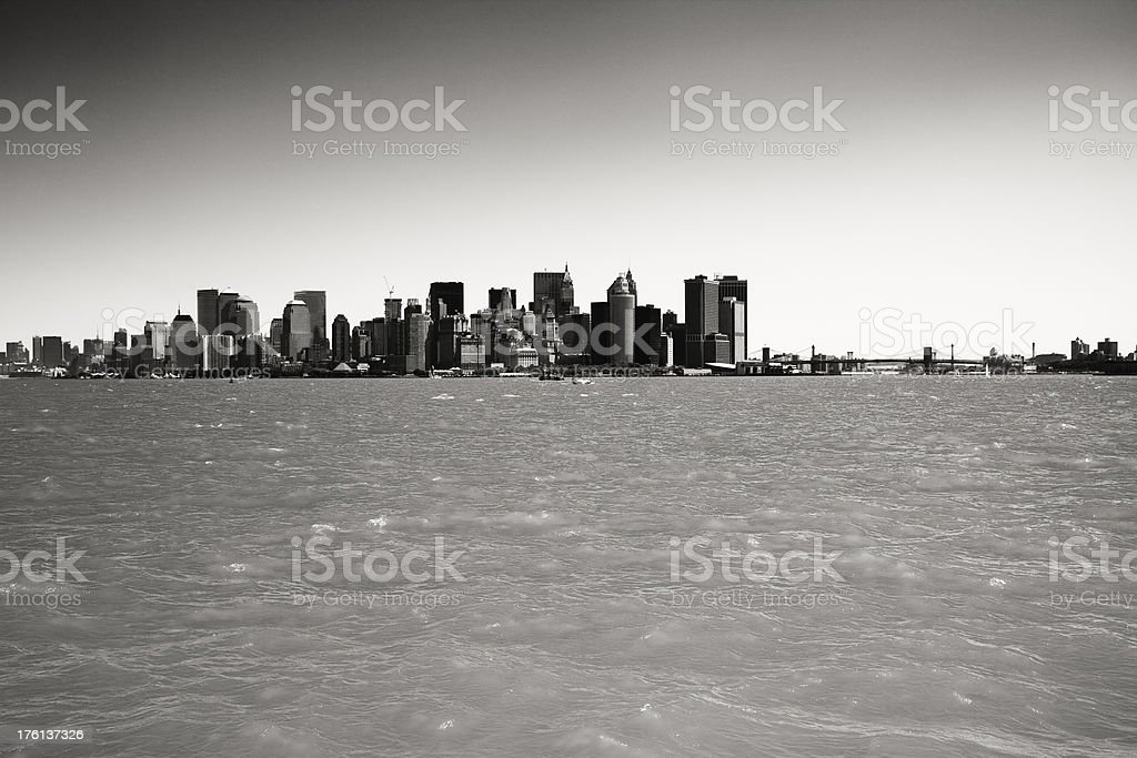 Black and White New York Cityscape royalty-free stock photo