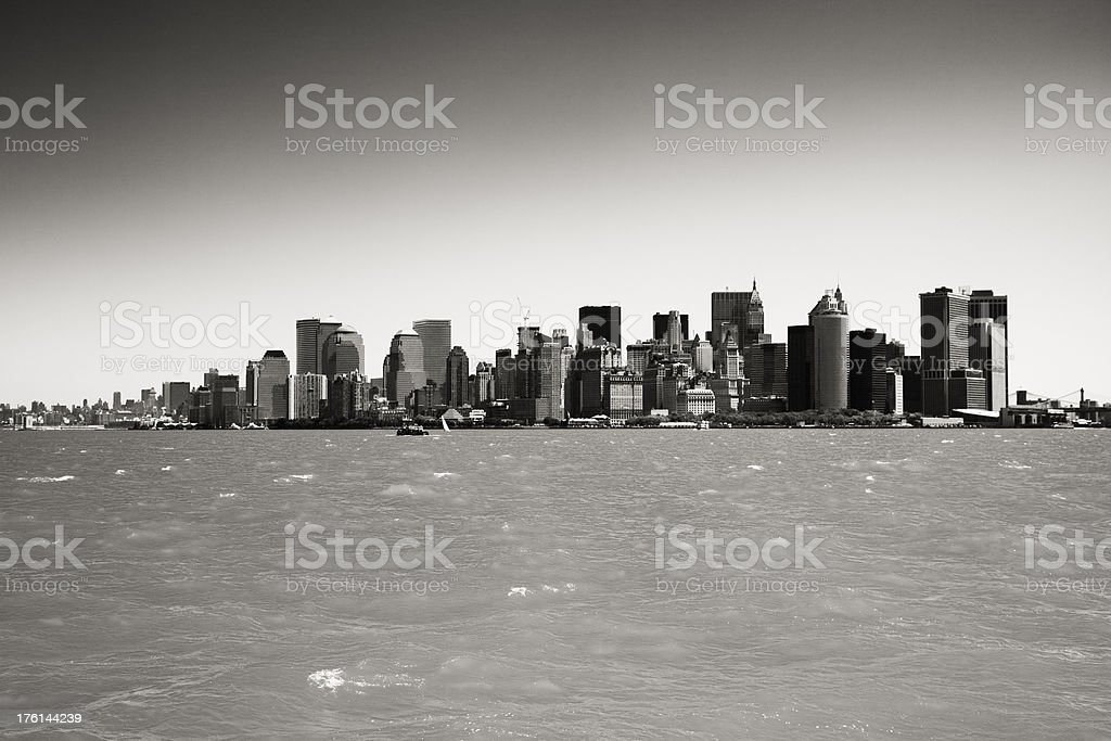 Black and White New York Skyline royalty-free stock photo
