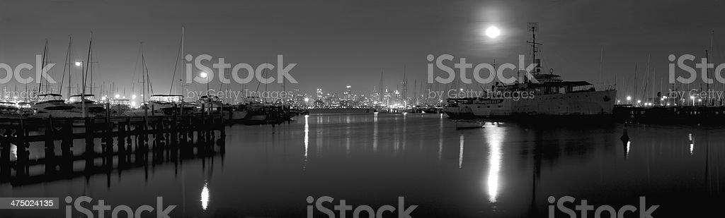 black and white night stock photo