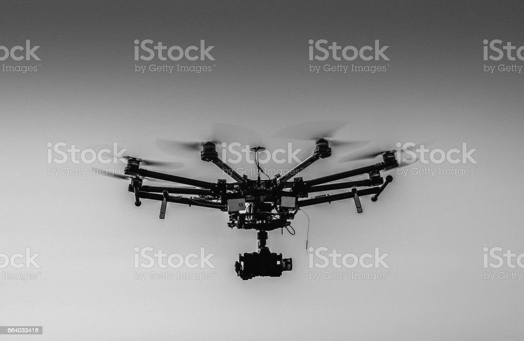 Black and White of Drone stock photo
