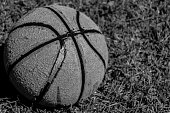 Black and White Old Basketball