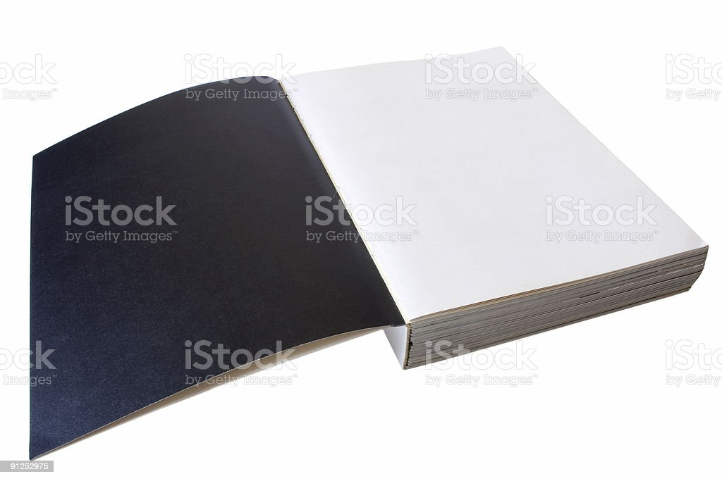 Black and white pages royalty-free stock photo