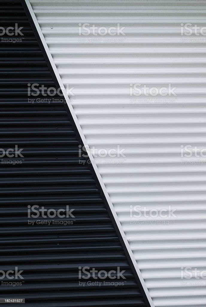 Black and White Painted Wall stock photo