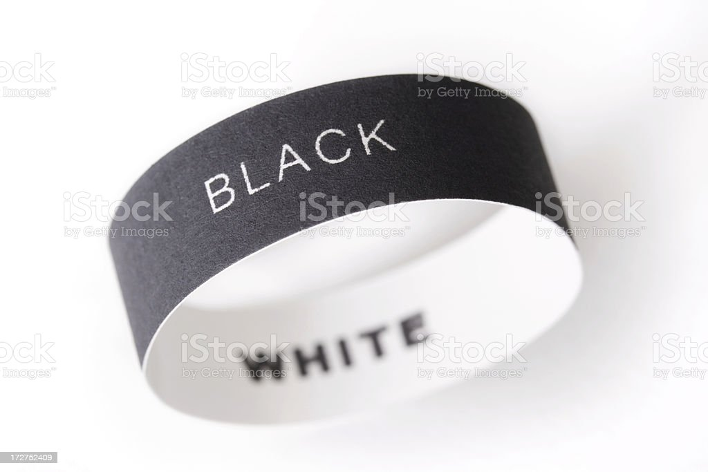 Black and white paper ring stock photo
