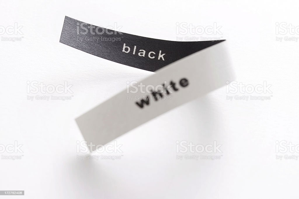 Black and white paper strip royalty-free stock photo