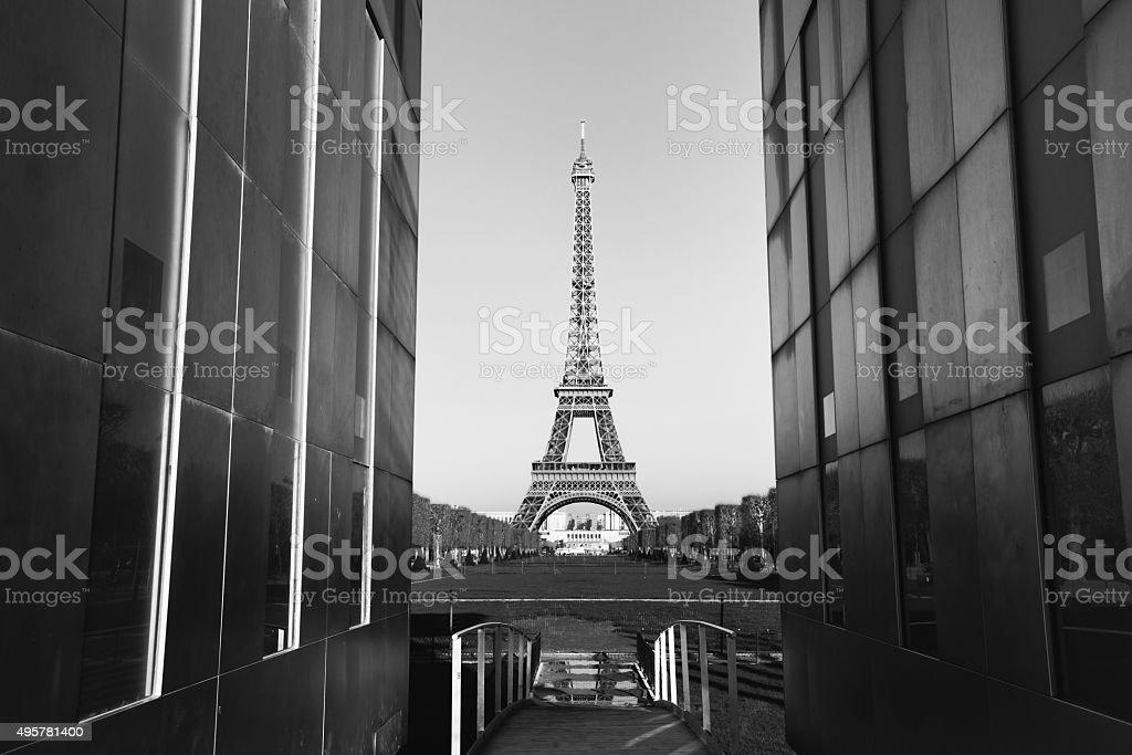 black and white Paris stock photo