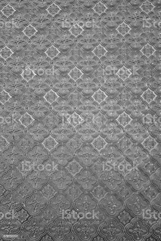 Black and white pattern on glass stock photo