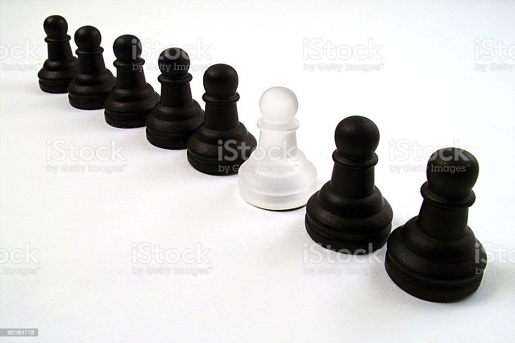 Black and white pawn royalty-free stock photo