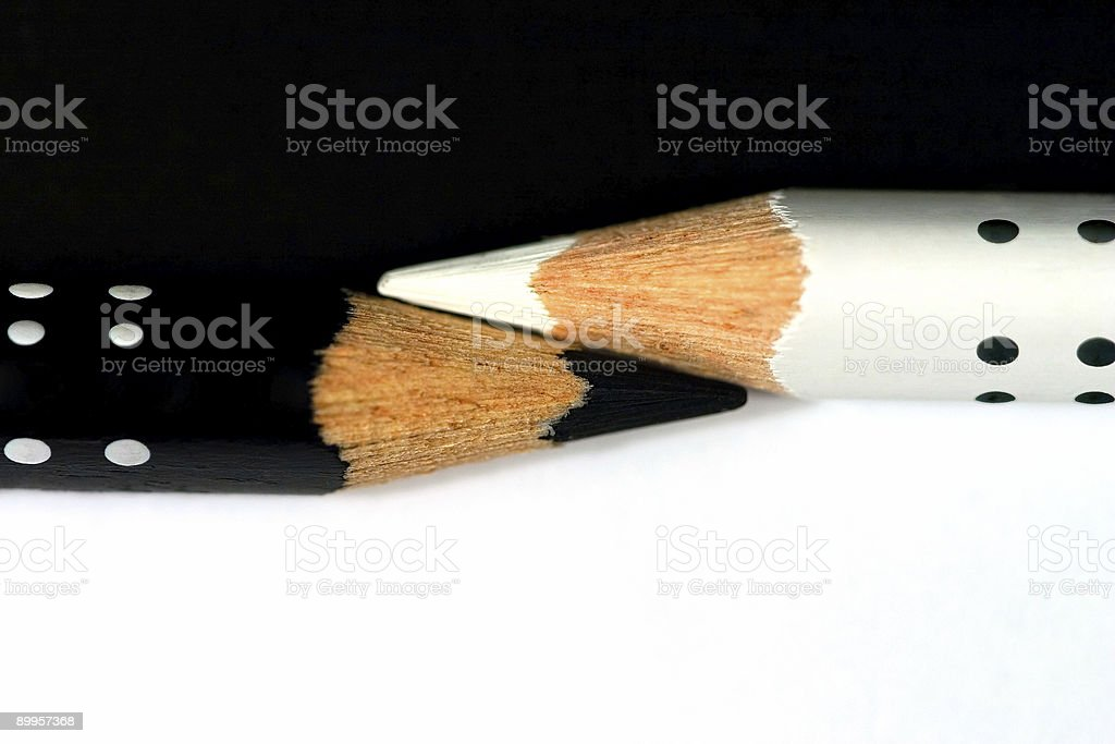 *Black and White* pencils royalty-free stock photo