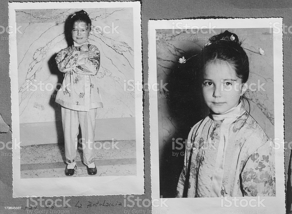 Black and white photo from 1956 royalty-free stock photo