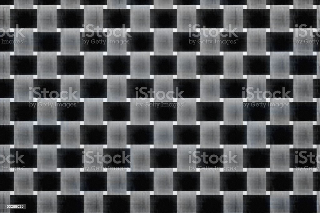 Black and white plaid patterns royalty-free stock photo