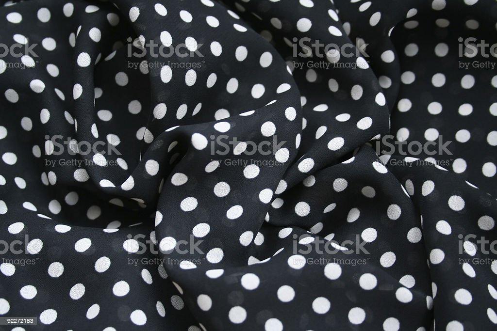 Black and white polka dots royalty-free stock photo