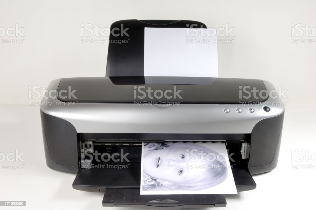 Black and white print royalty-free stock photo