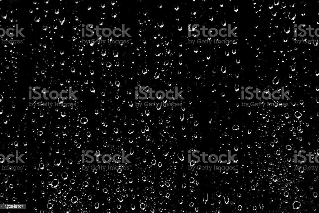 Black and White Rain stock photo