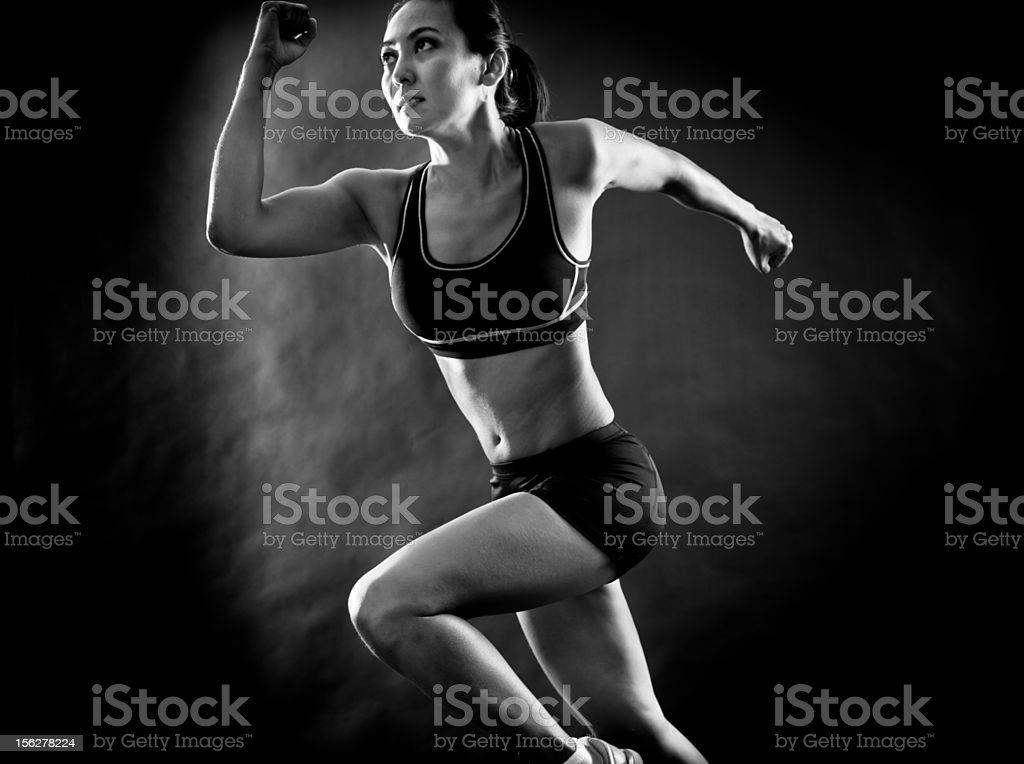 Black And White Runner royalty-free stock photo