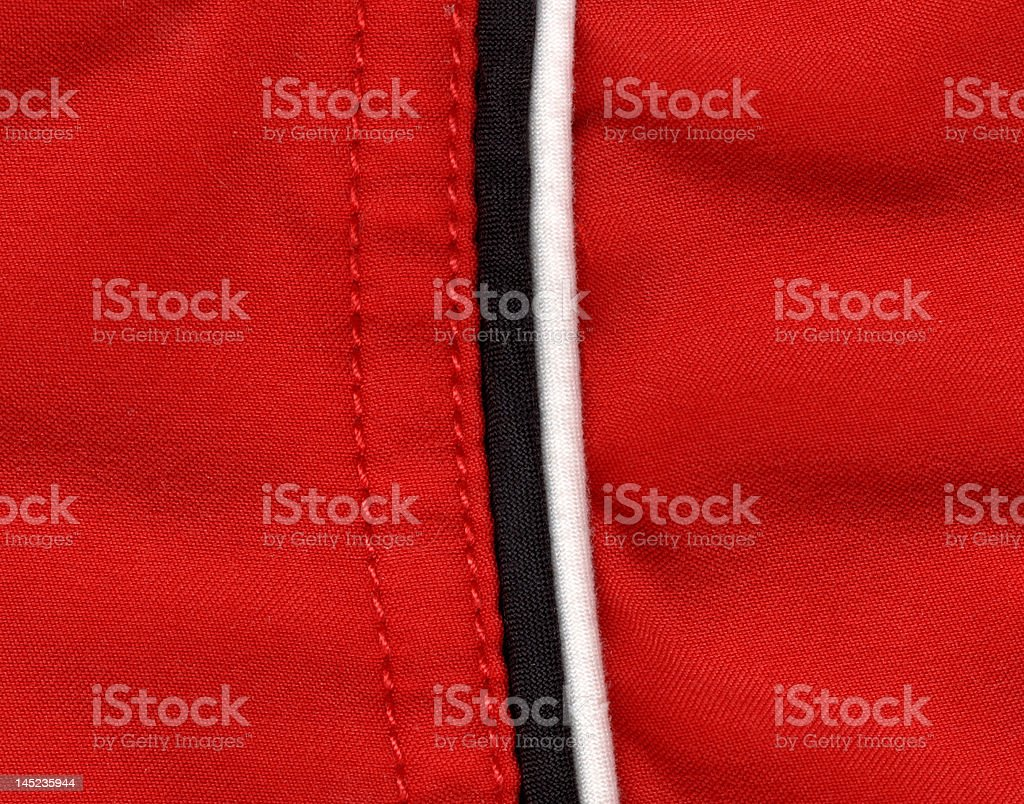 Black and White seam on red Material royalty-free stock photo