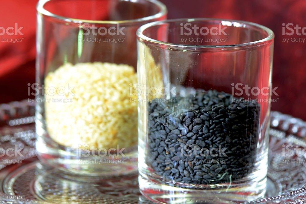 Black and White Sesame. royalty-free stock photo