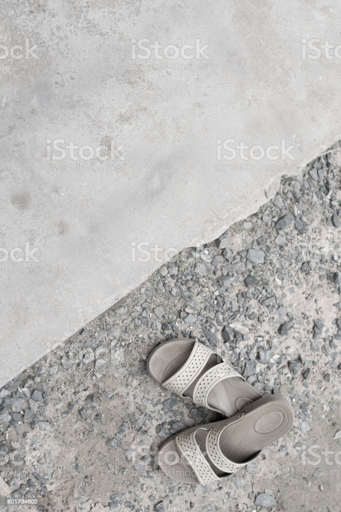 black and white shoe with space texture stock photo