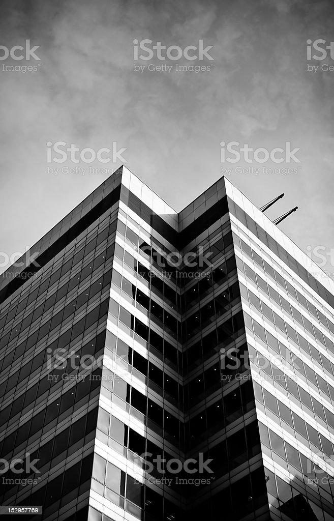 Black and white skyscraper royalty-free stock photo