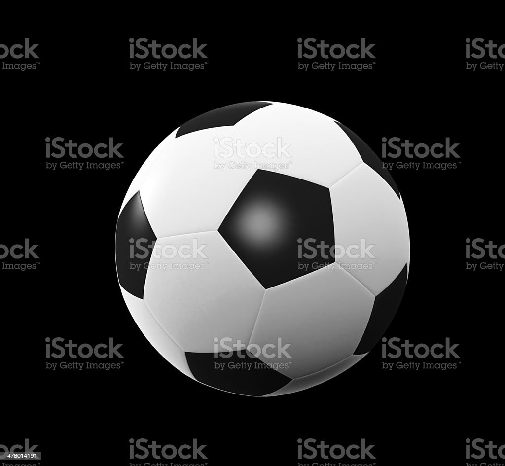 Black and white soccer ball royalty-free stock photo