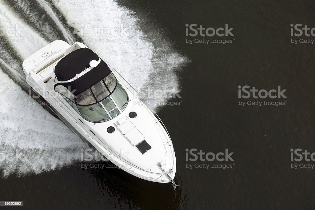 Black and White Speedboat royalty-free stock photo