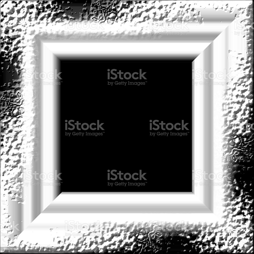 black and white square frame background stock photo