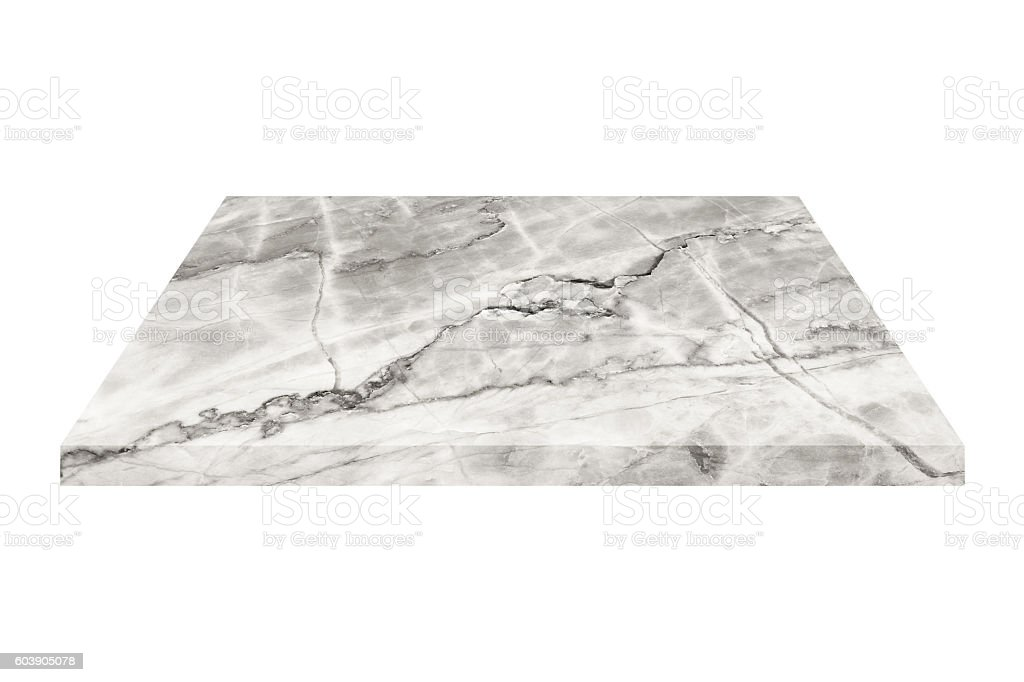 black and white square marble plate isolated on white stock photo