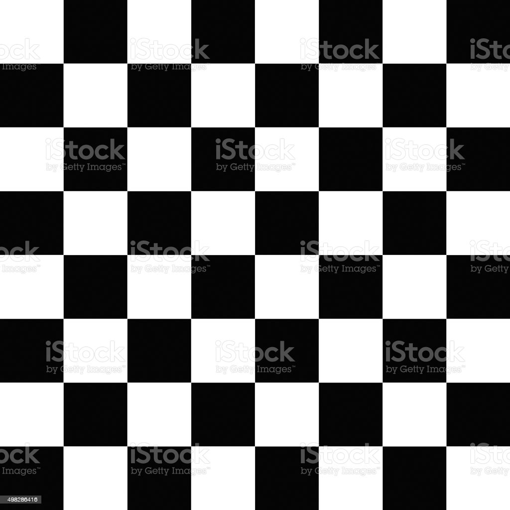 black and white squares checkered pattern stock photo