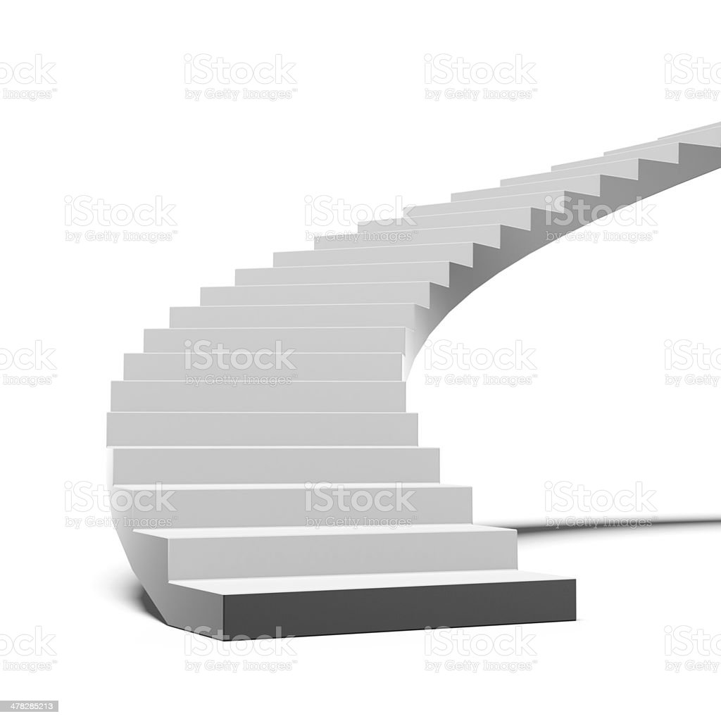 Black and white stair stock photo