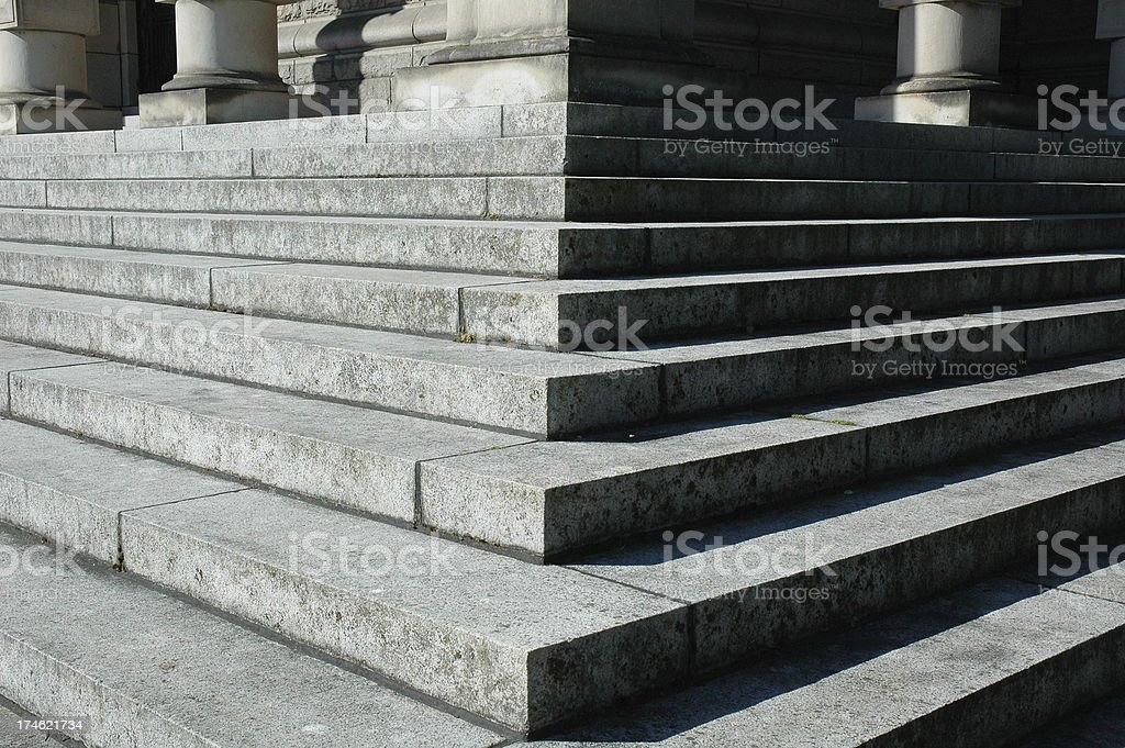 Black and White Steps stock photo