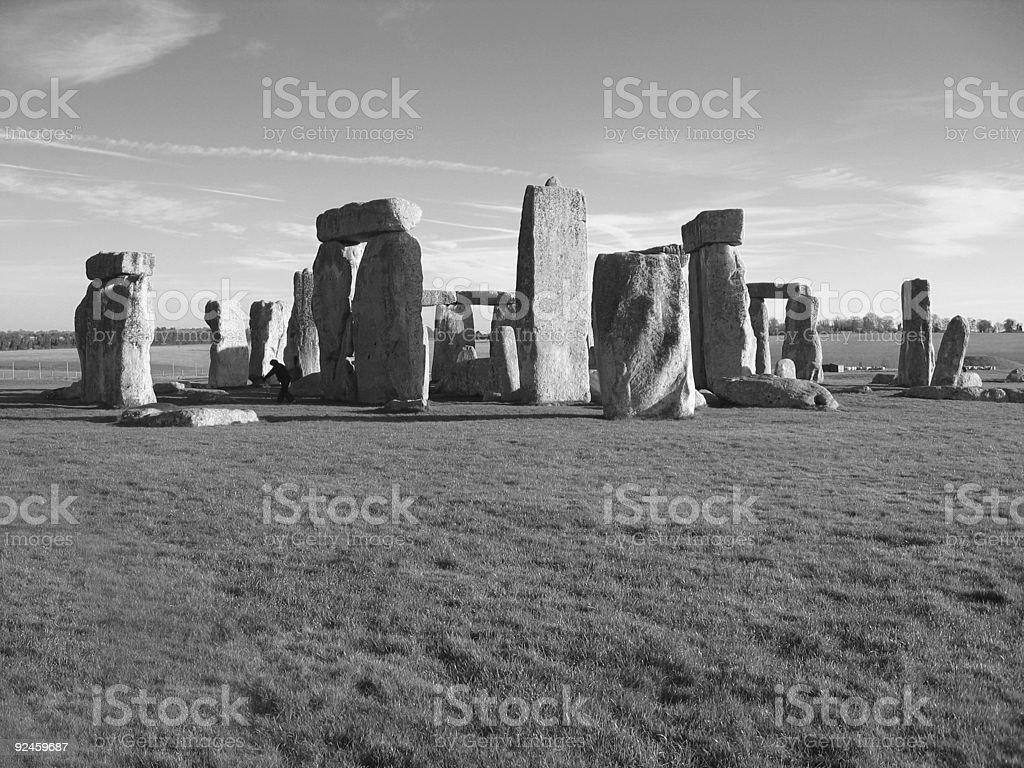 Black and White Stonehenge stock photo