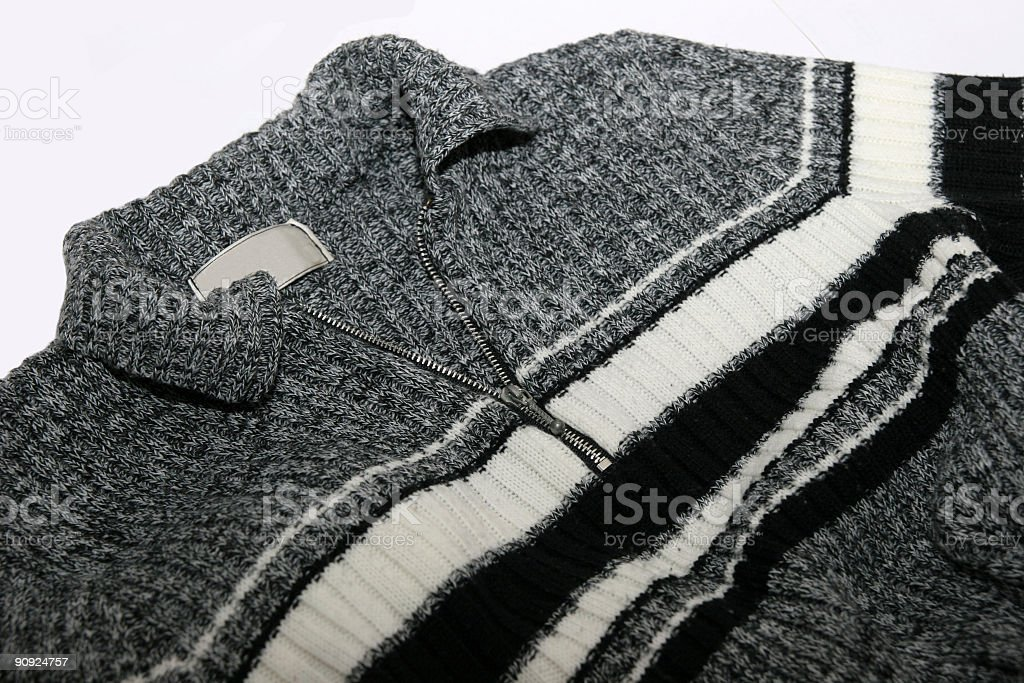 Black and white striped pullover royalty-free stock photo